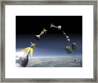 Artists Rendering Of An Emergency Use Framed Print by Stocktrek Images