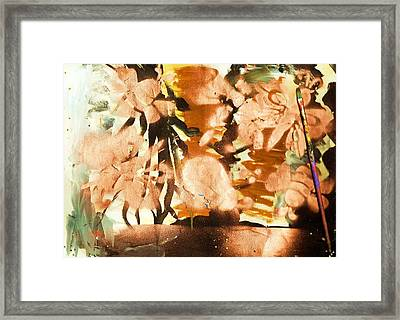 Artist's Serendipity Abstract Painting Framed Print by Anne-elizabeth Whiteway