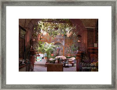 Artists' Studio In Sorrento Italy  Framed Print