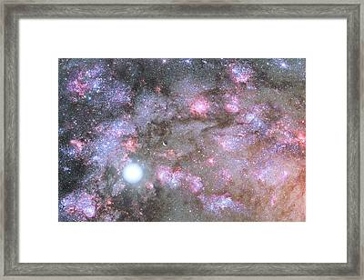 Framed Print featuring the digital art Artist's View Of A Dense Galaxy Core Forming by Nasa