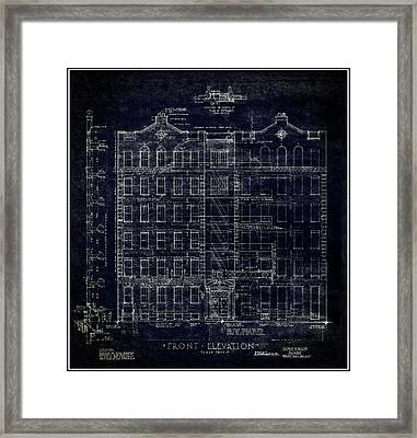 Artitectural Elevation N Y C  1939 Framed Print by Daniel Hagerman