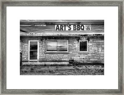 Art's Bbq Framed Print by Twenty Two North Photography