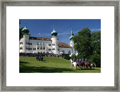 Framed Print featuring the photograph Artstetten Castle In June by Travel Pics