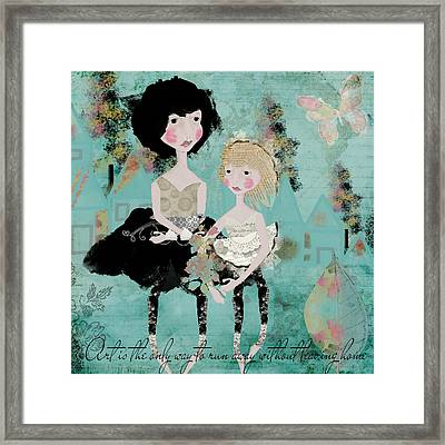 Artsy Girls Framed Print by Diana Boyd