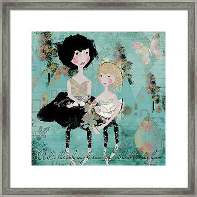 Artsy Girls Framed Print