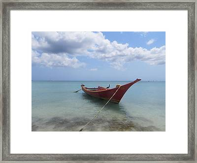 Framed Print featuring the photograph Aruba by Jean Marie Maggi