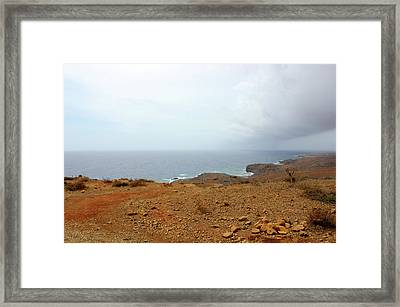 Aruba Rain Storm Framed Print by Design Turnpike