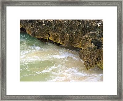 Aruba Rock Framed Print by Carlo Conte