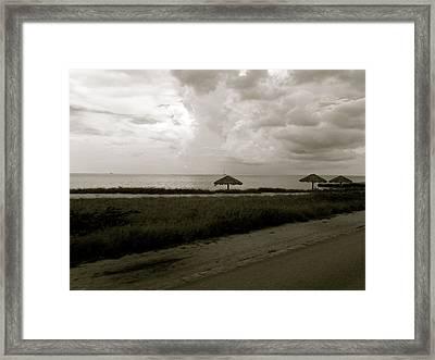Aruban Landscape Framed Print