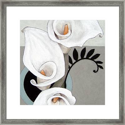 Arum, Three Framed Print by Susan Lishman