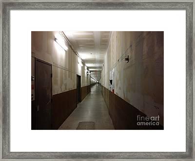 Arundel Mills Shopping Mall Service Corridor Framed Print by Ben Schumin