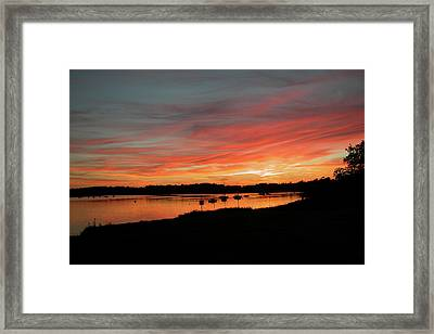 Arzal Sunset Framed Print