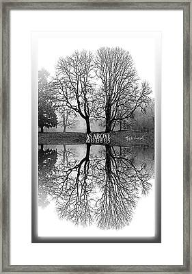 As Above So Below-mono I Framed Print