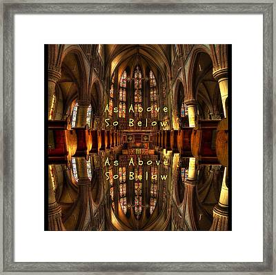 As Above So Below Framed Print