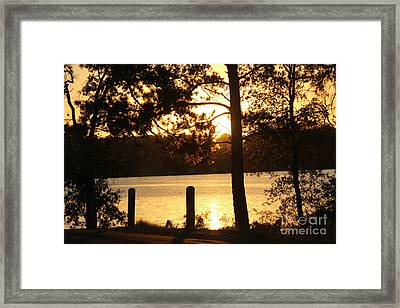 As Another Day Closes Framed Print by Kathy  White