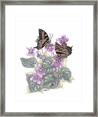 As Close To The Flowers Framed Print
