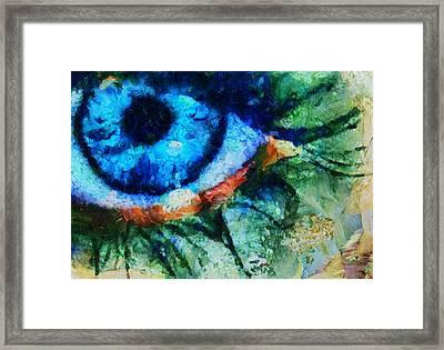 As He Said Goodbye - Painting  Framed Print