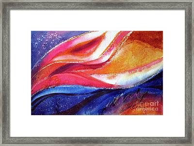 Framed Print featuring the painting As I Bloom by Kathy Braud