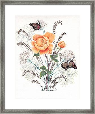 Framed Print featuring the painting As I Ride The Butterfly by Stanza Widen