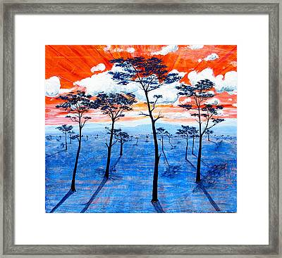 As It Was In The Beginning Framed Print by Rollin Kocsis