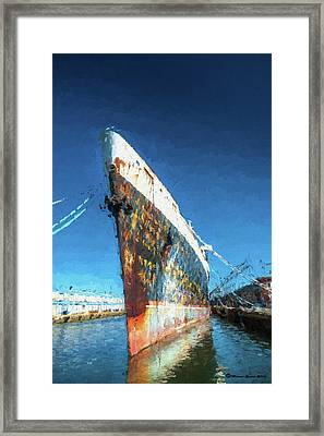 As She Rusts Away Framed Print