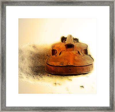 As Sound Fossils  Framed Print by Steven Digman