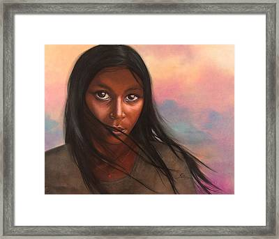 As Still As The Wind Framed Print by Maria Hathaway Spencer