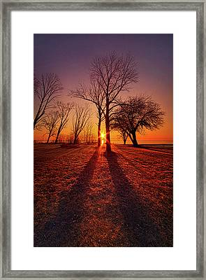 As Sure As The Sun Will Rise Framed Print by Phil Koch