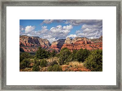 Framed Print featuring the photograph As The Clouds Pass On By In Sedona  by Saija Lehtonen
