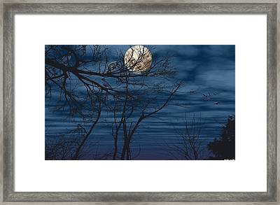 As The Crow Flies Framed Print by Evelyn Patrick