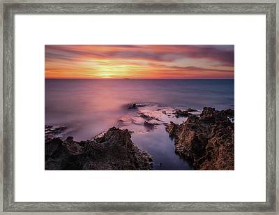 As The Day Ends Framed Print