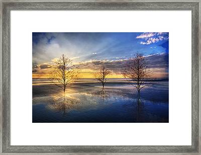 As The Day Unfolds Framed Print by Debra and Dave Vanderlaan