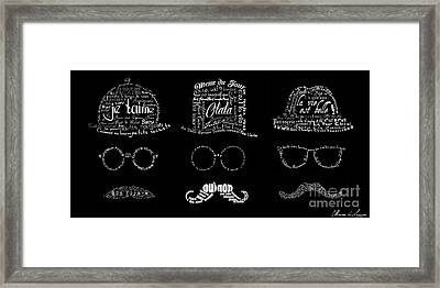 As The French Say... Hommes Framed Print by Marion De Lauzun