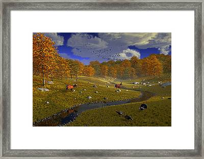 As The Leaves Will Turn Framed Print by Dieter Carlton