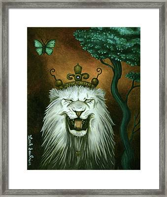 As The Lion Laughs Framed Print by Leah Saulnier The Painting Maniac