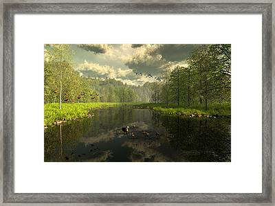 As The River Flows Framed Print by Dieter Carlton