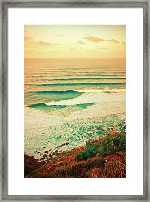 As The Sets Roll In Framed Print by Az Jackson