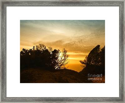 As The Sun Fades Away Framed Print