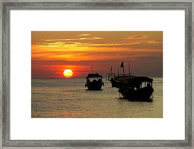 As The Sun Meets The Sea Framed Print