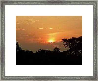 As The Sun Sets ... Orange Framed Print