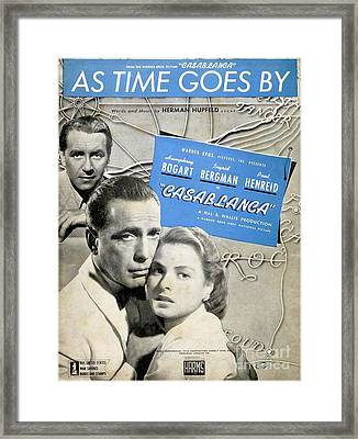 As Time Goes By Sheet Music Framed Print by Barbie Corbett-Newmin