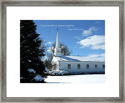 As White As Snow Framed Print by Ann Horn
