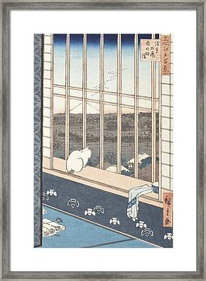 Asakusa Rice Fields And Festival Of Torinomachi From The Series One Hundred Famous Views Of Edo Framed Print by Hiroshige