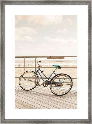Asbury Park Bicycle Framed Print by Erin Cadigan