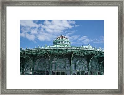 Asbury Park Carousel Framed Print by Erin Cadigan