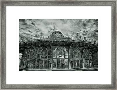 Asbury Park Carousel House Framed Print by Allison Coffin