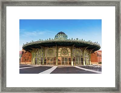 Asbury Park Carousel Framed Print by Tom Rostron