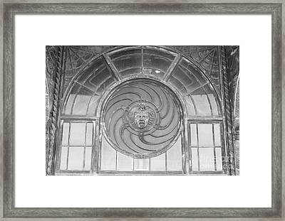 Asbury Park Carousel Window Framed Print