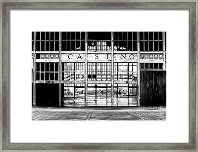 Asbury Park Casino Entrance Framed Print