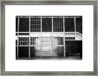 Asbury Park Casino Fog Framed Print